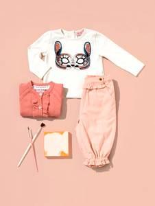 Bilde av Baby jente bukse i fargen cameo rose fra Noa Noa