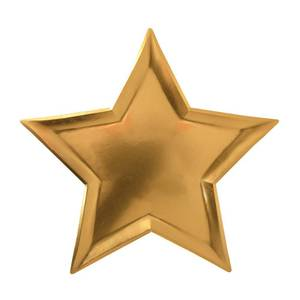 Bilde av Papptallerken gull stjerne 8 stk fra Meri Meri