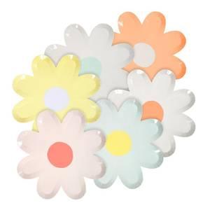 Bilde av Papptallerken blomst 12 stk fra Meri Meri