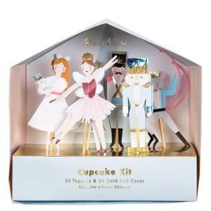 Bilde av Nutcracker Christmas Cupcake sett fra Meri Meri