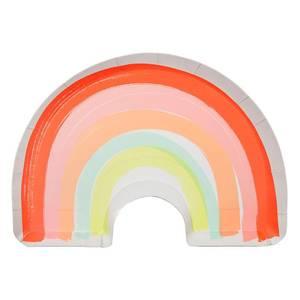 Bilde av Papptallerken regnbue12 stk fra Meri Meri
