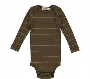 Bilde av Baby body modal Ben Golden Olive Stripe fra MarMar
