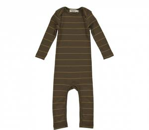 Bilde av Baby romper Modal Roxi i Golden Olive Stripe fra MarMar
