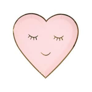 Bilde av Papptallerken blushing heart  8 stk fra Meri Meri