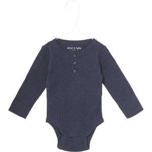 Bilde av Baby gutt body Mathias i sky captain blue fra Mini A Ture
