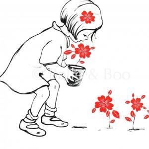 Bilde av Kort - Blomster fra Belle & Boo