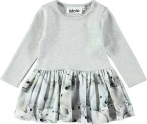 Bilde av Baby jente kjole Carel polar bear jersey fra Molo