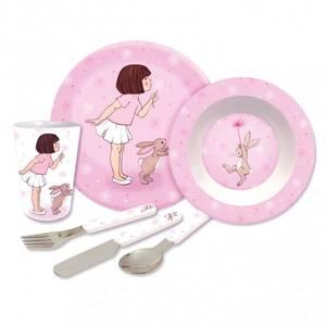 Bilde av Melamin gavesett i rosa fra Belle & Boo