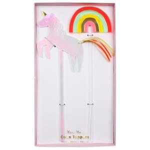 Bilde av Cake toppers unicorn and rainbow fra Meri Meri
