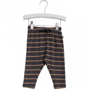 Bilde av Baby basic bukser stripete Nicklas caramel fra Wheat
