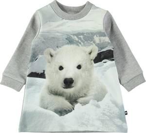 Bilde av Baby jente kjole Corey baby polar bear fra Molo
