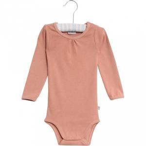 Bilde av Baby jente body frill i cameo brown fra Wheat