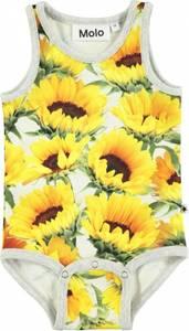 Bilde av Baby jente body Fie i sunflower fields fra Molo