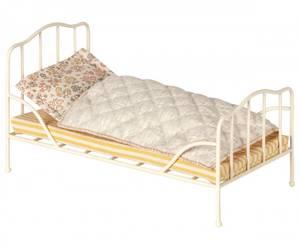 Bilde av Metall mini romantisk vintage seng i off white fra Maileg