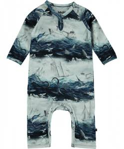 Bilde av Baby gutt Fleming heldress sailor stripe fra Molo