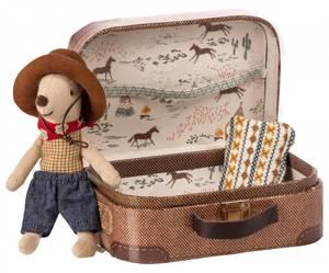 Bilde av Koffert med cowboy mus fra Maileg