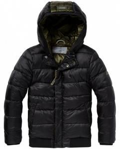 Bilde av Padded jacket with hood in short length fra Scotch Shrunk