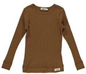 Bilde av Basic t-shirt Modal LS i Leather fra MarMar