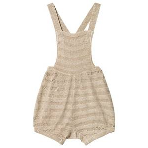 Bilde av Baby jente pusling lurex knit romper i gold fra MarMar