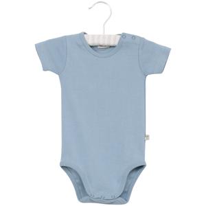 Bilde av Baby gutt basic kortarmet body i fadeddenim fra Wheat