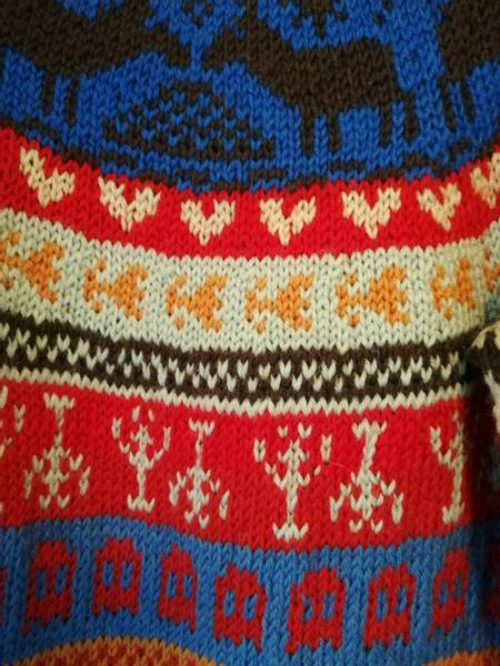 Fargerik genser