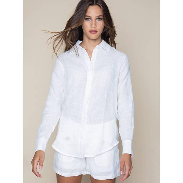 ella&il Livia Linen Shirt Navy