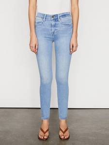Image of FRAME Le High Skinny Double Needle Tropic