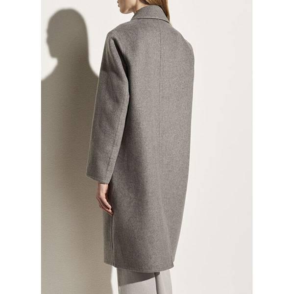 Vince Classic Coat Medium Heather Grey