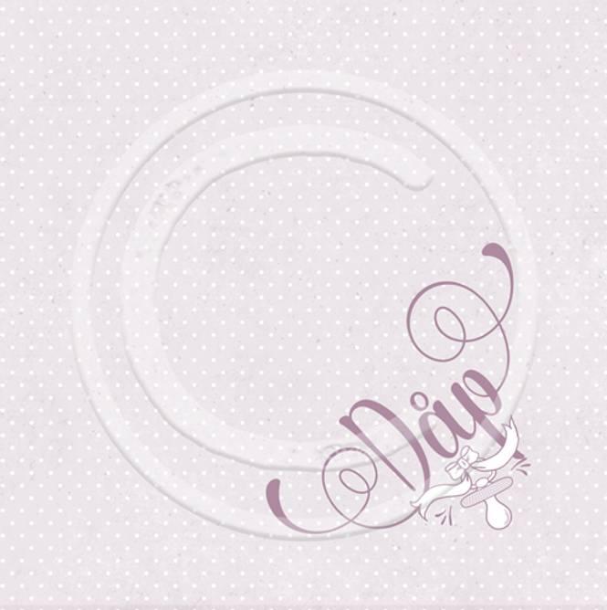 Bilde av Serviett dåp, rosa