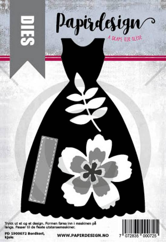 Bilde av PD 1900072 Kjole, bordkort (6 dies)