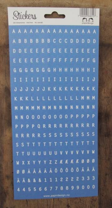 Bilde av Alfabet  blå (6)