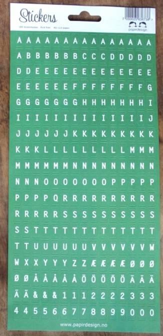 Bilde av Alfabet  grønn (6)