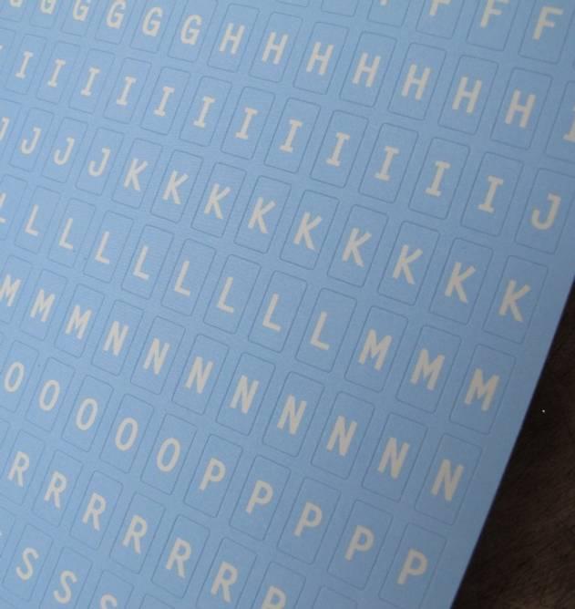 Bilde av Alfabet lys blå (6)