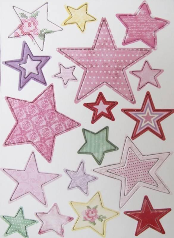 Bilde av Stjerner rosa (6)