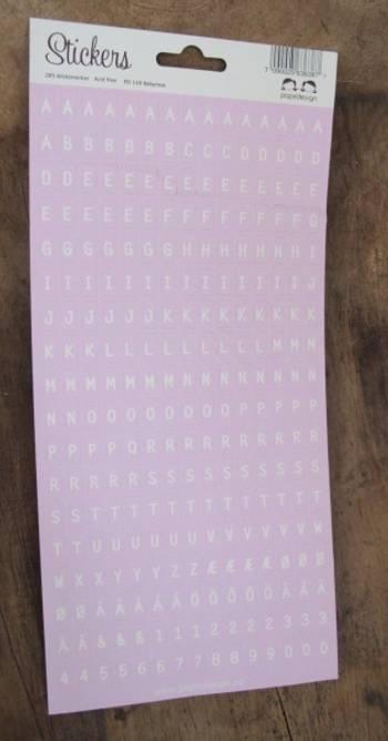 Bilde av Alfabet  babyrosa (6)