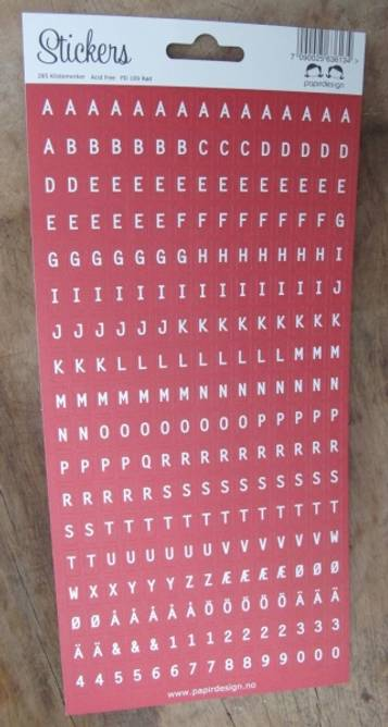 Bilde av Alfabet rød (6)