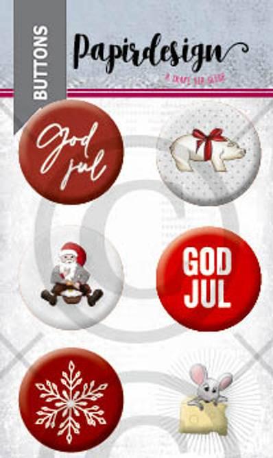 Bilde av God jul 3 (6 buttons)