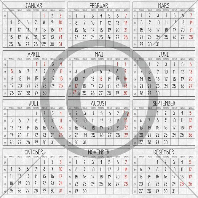 Bilde av PD 2000452 Kalender ( 25 ark)