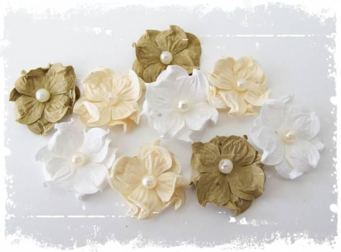 Bilde av Liten Hortensia med perle,
