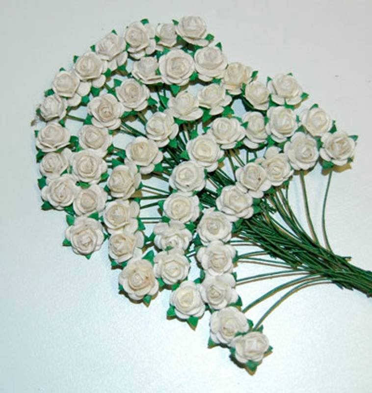 Bilde av Nr 201, Roser 1,0 cm, Hvit, bare hvit (6)