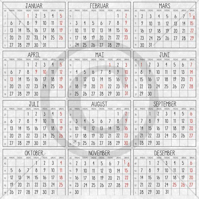 Bilde av PD 1900189 Kalender 2020 (25