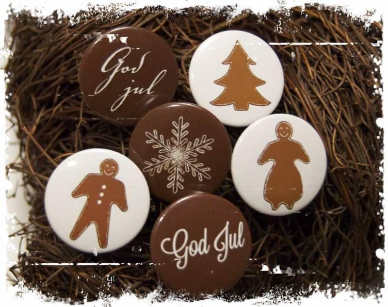 Bilde av Buttons jul, brun (6)