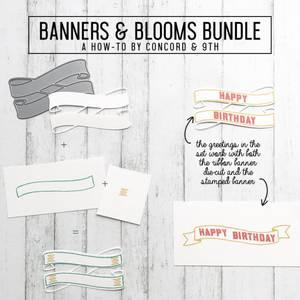 Bilde av Concord & 9th Banners & Blooms Stamp Set
