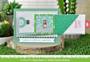 Bilde av Lawn Fawn Diagonal Gift Card Pocket dies
