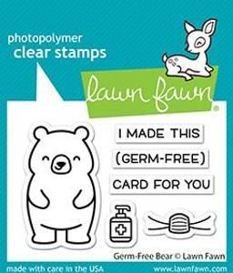 Bilde av Lawn Fawn Germ-Free Bear Stamp Set