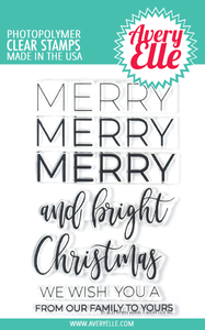 Bilde av Avery Elle Merry Merry Clear Stamps