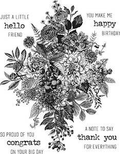 Bilde av Stampers Anonymous Glorious Bouquet Stamp Set