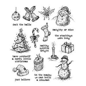 Bilde av Stampers Anonymous Tattered Christmas Stamp Set