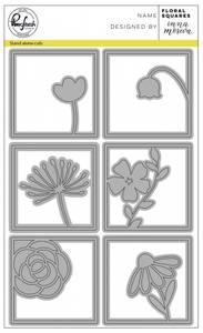 Bilde av Pinkfresh Studio Floral Squares die set