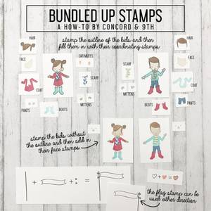 Bilde av Concord & 9th Bundled Up Stamp Set
